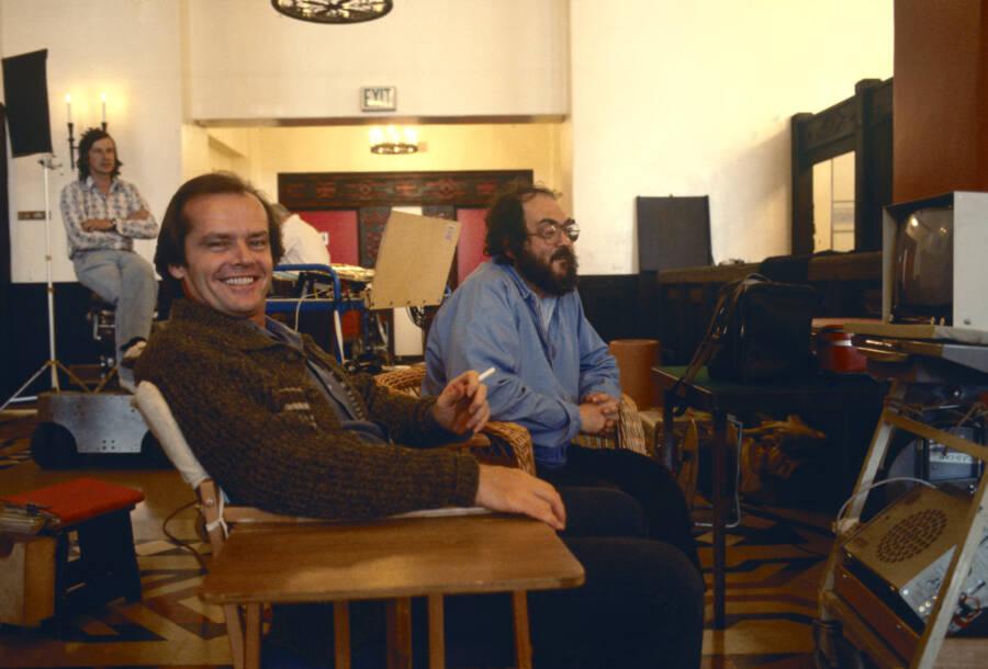 Jack Nicholson And Stanley Kubrick Making The Shining