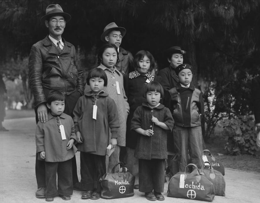 Japanese American Family Headed For Internment