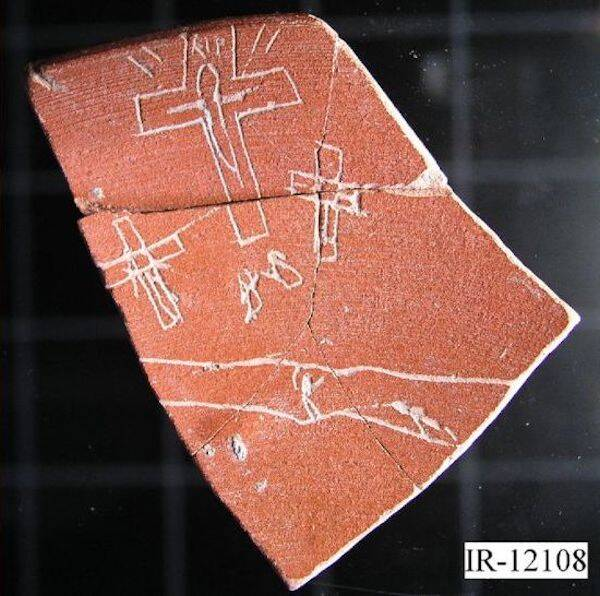 Jesus Christ Crucifixion Pottery Fragment