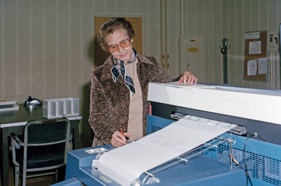 Katherine G. Johnson At Her Computer