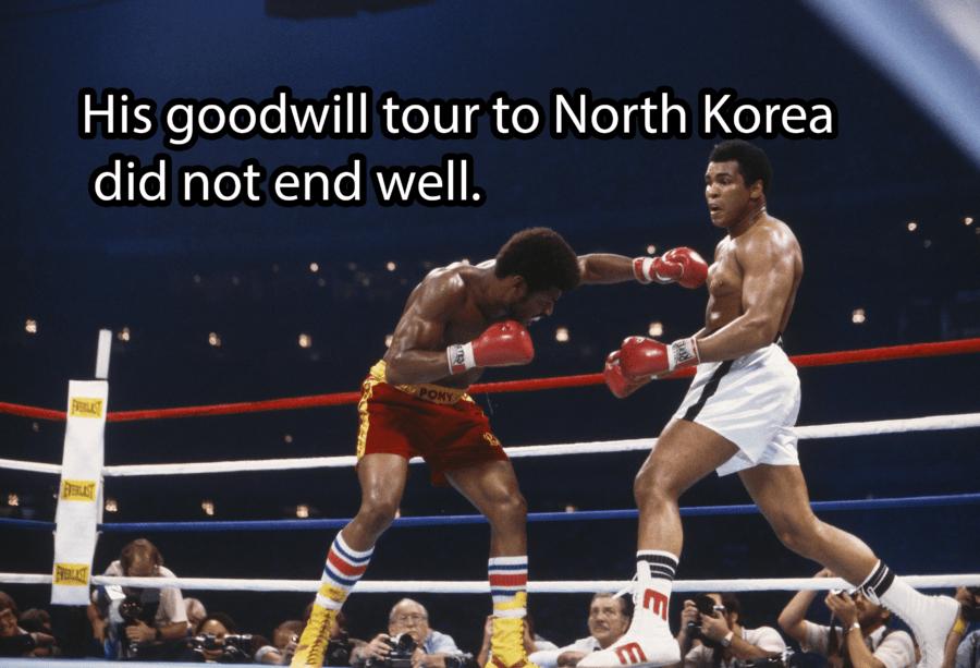 Leon Spinks Fighting Muhammad Ali