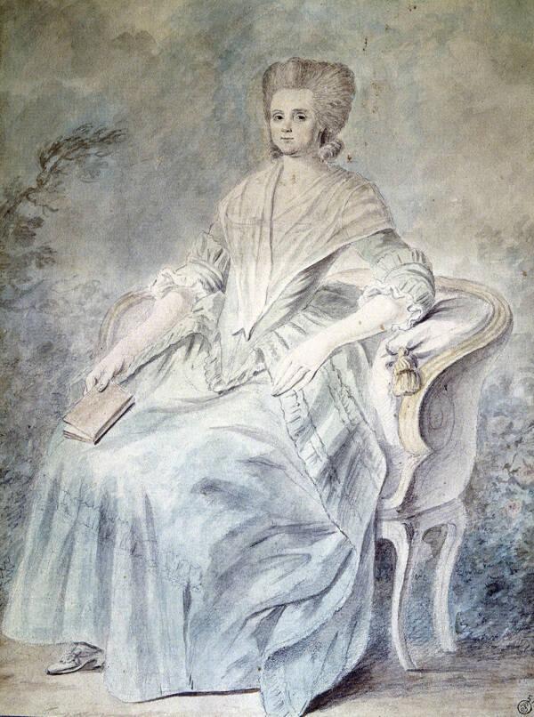 Sketch Of Olympe De Gouges