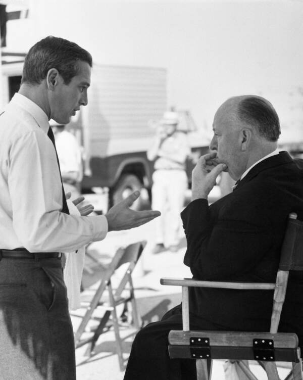 Paul Newman And Alfred Hitchcock