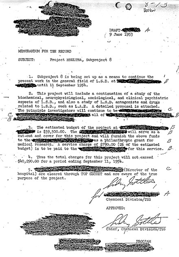 Redacted MkUltra Document