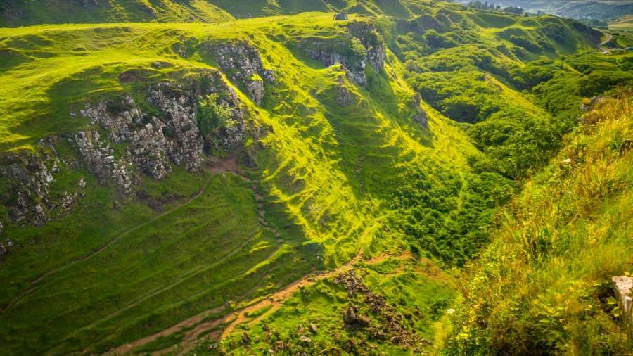 Rolling Hills In The Fairy Glen
