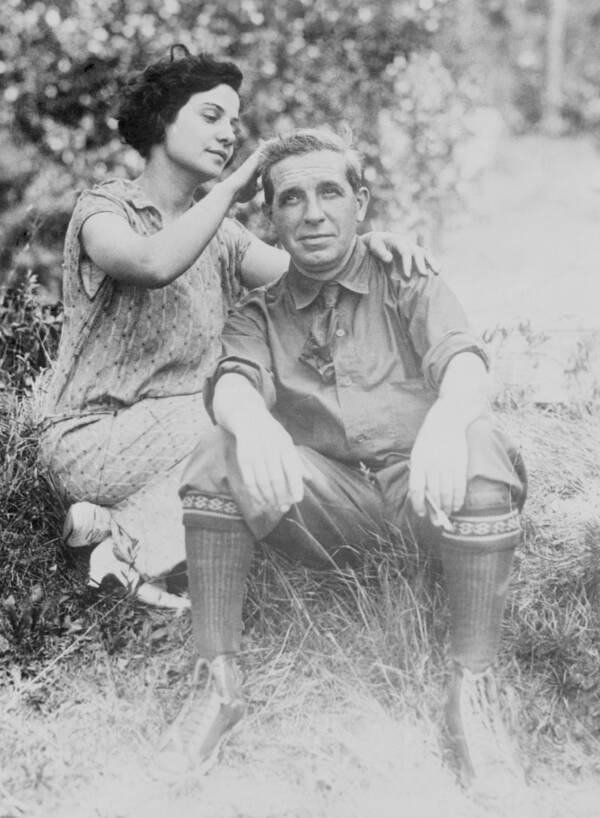 Rose And Charles Ponzi Outside