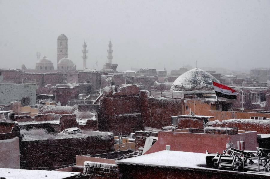 Snow In Iraq Mosul