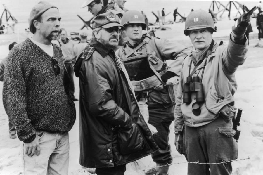 Steven Spielberg Filming Saving Private Ryan With Tom Hanks