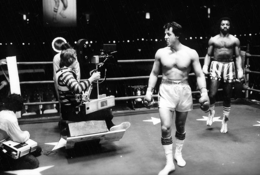 Sylvester Stallone In The Ring As Rocky