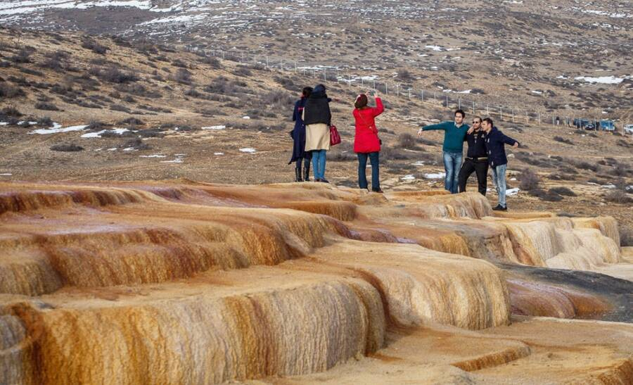 Tourists At Badab E Surt