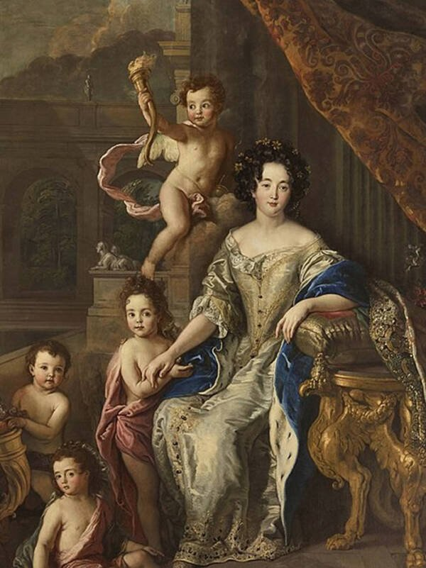 Portrait Of Madame De Montespan Surrounded By Babies