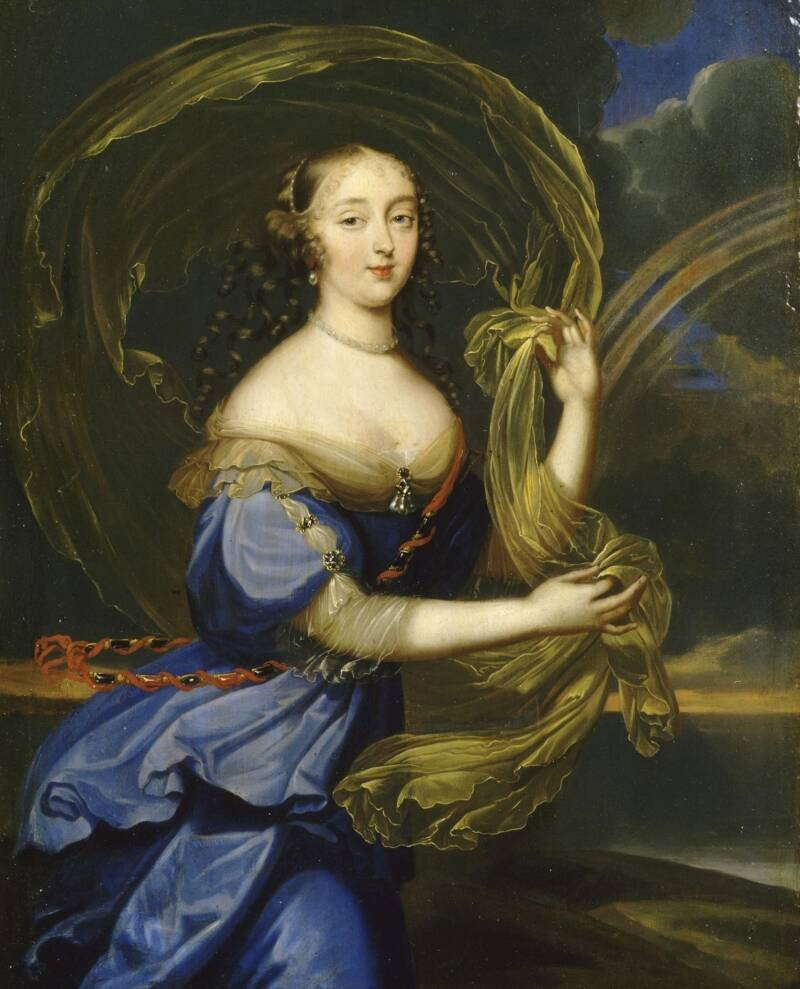 Portrait Of Madame Montespan Holding A Flying Sash