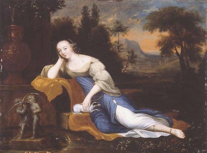 Portrait Of Madame De Montespan Lounging