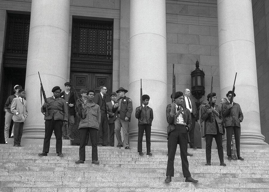 Black Panthers Guns Up