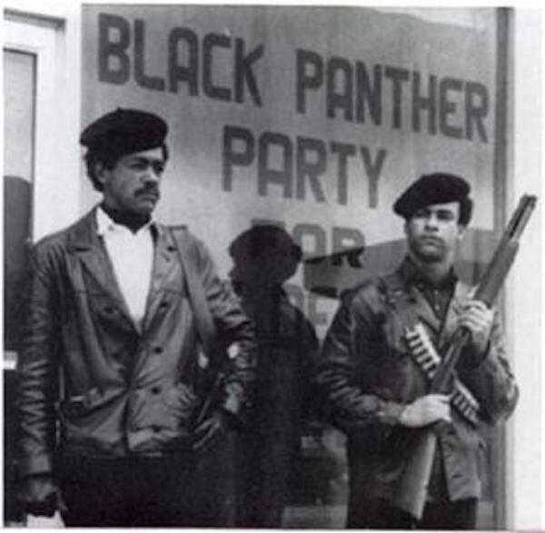 Bobby Seale And Huey Newton With Guns