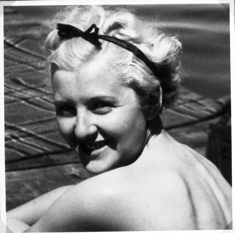 Eva Braun In Italy