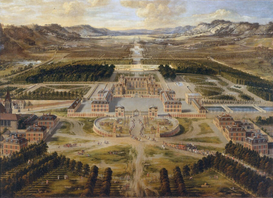 Portrait Of Versailles From Above