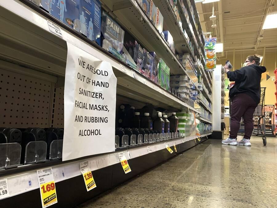 Supermarket Shortage During Coronavirus