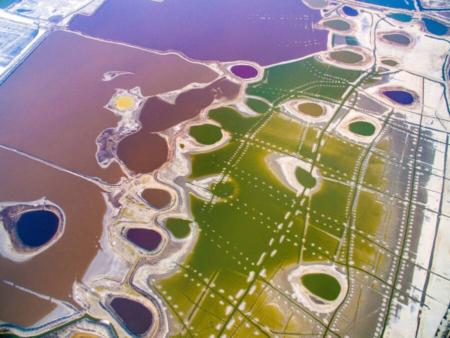 Aerial View Of Yuncheng Salt Lake