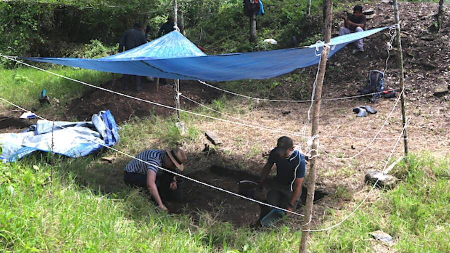 Dig Site For Mayan Kingdom