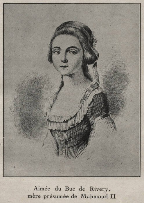 Drawing Of Aimee Du Buc De Rivery
