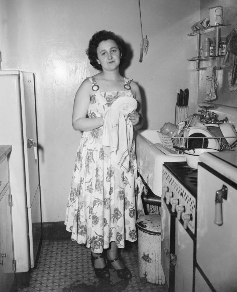 Ethel Rosenberg In Her Kitchen