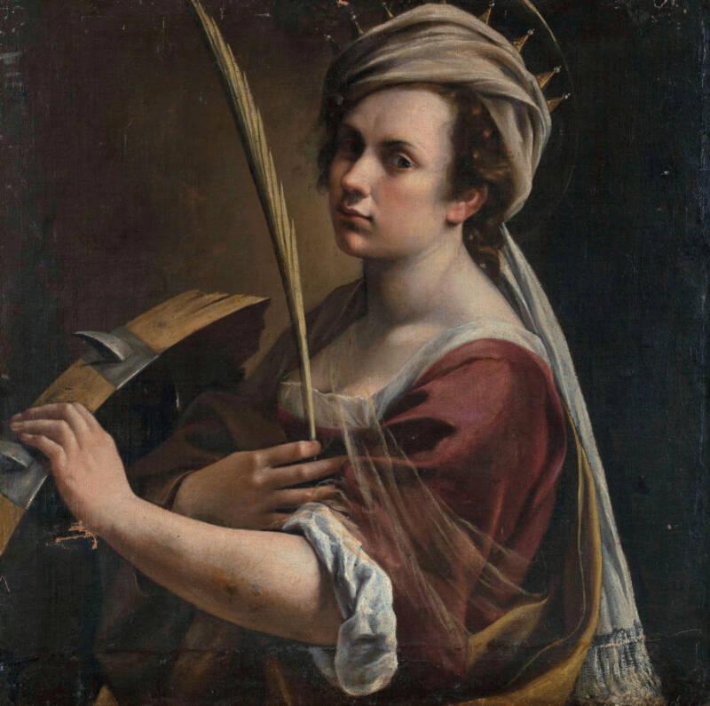 Gentileschi As St. Catherine