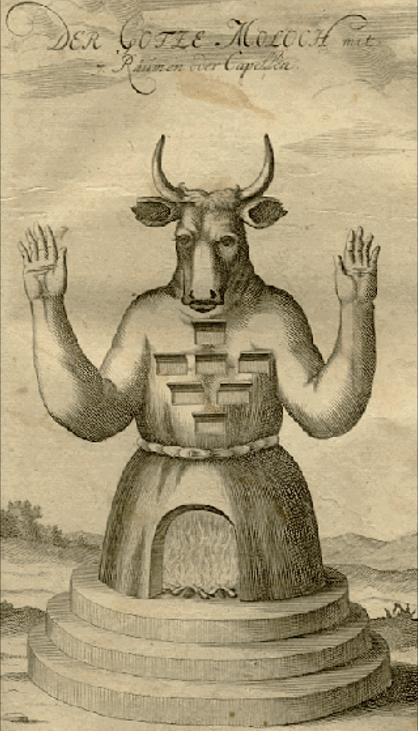 German Illustration Of Moloch The God