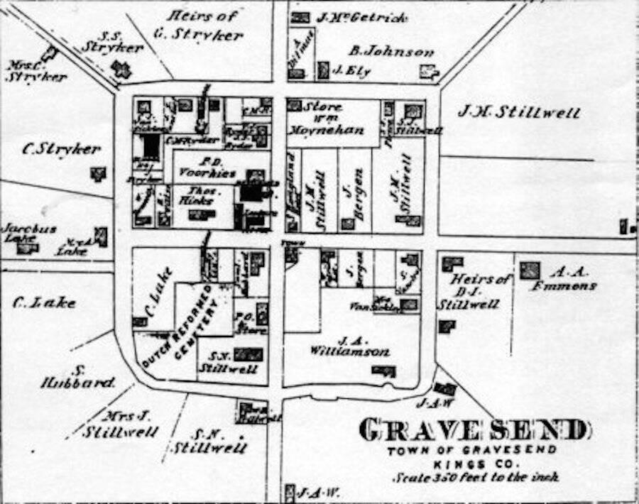 Gravesend Town Map