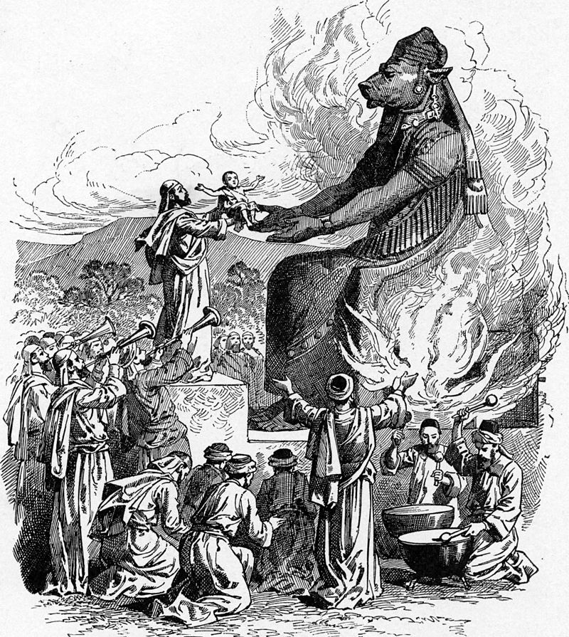 Illustration Of An Offering To Molech