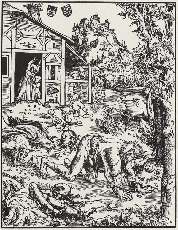 Illustration Of Werewolf Devouring Children