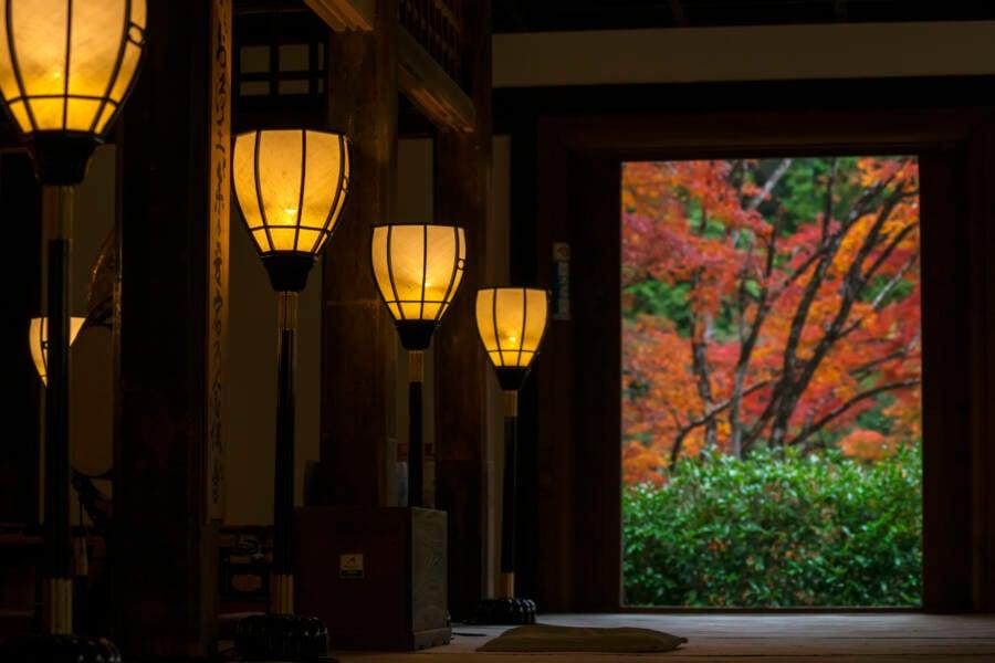 Inside Buddhist Temple Kyoto