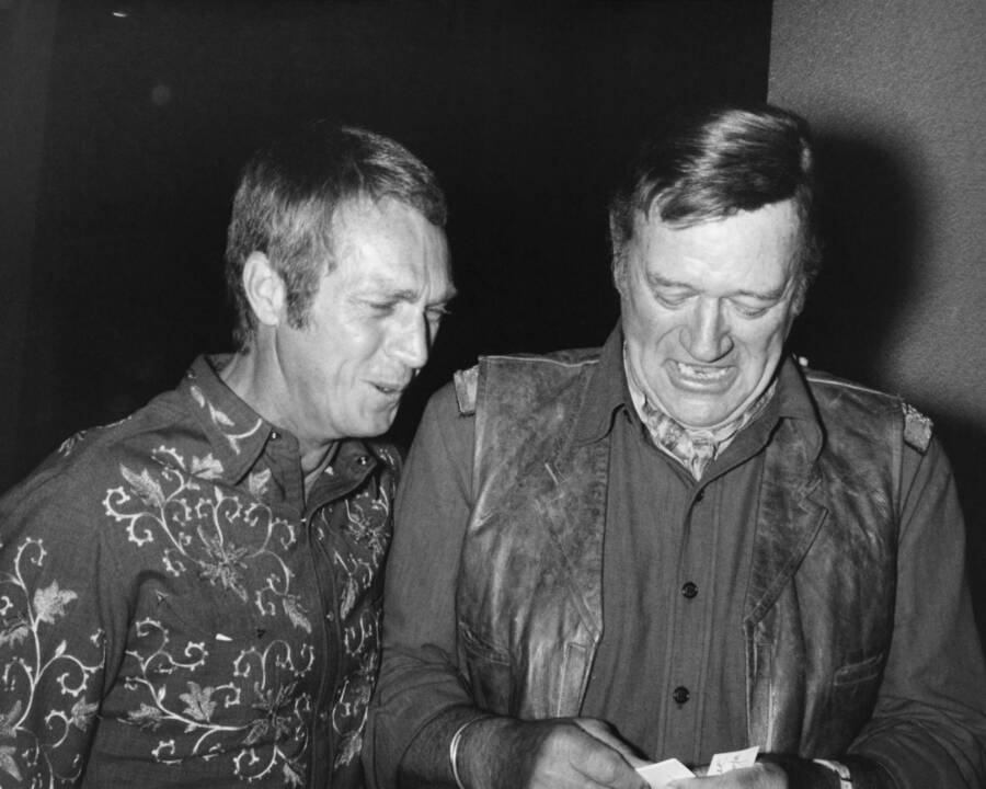 John Wayne And Steve Mcqueen