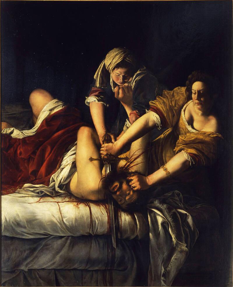 Artemisia Gentileschi Painting Of Judith Beheading Florence