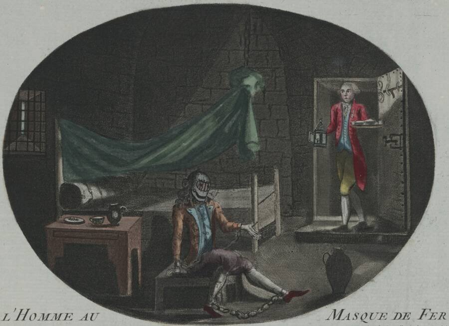 Cartoon Of The Man In The Iron Mask