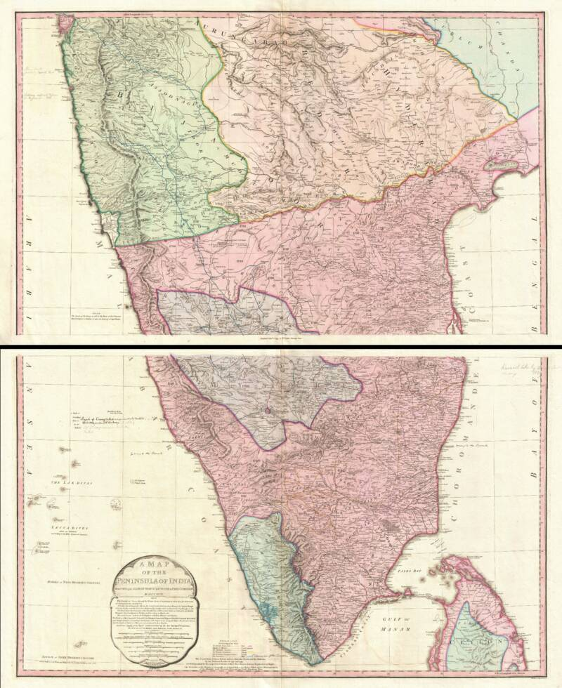 Map Of India 1800