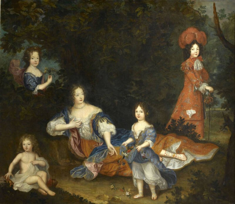 Marquise De Painting Of The Montespant Surrounded By Her Children