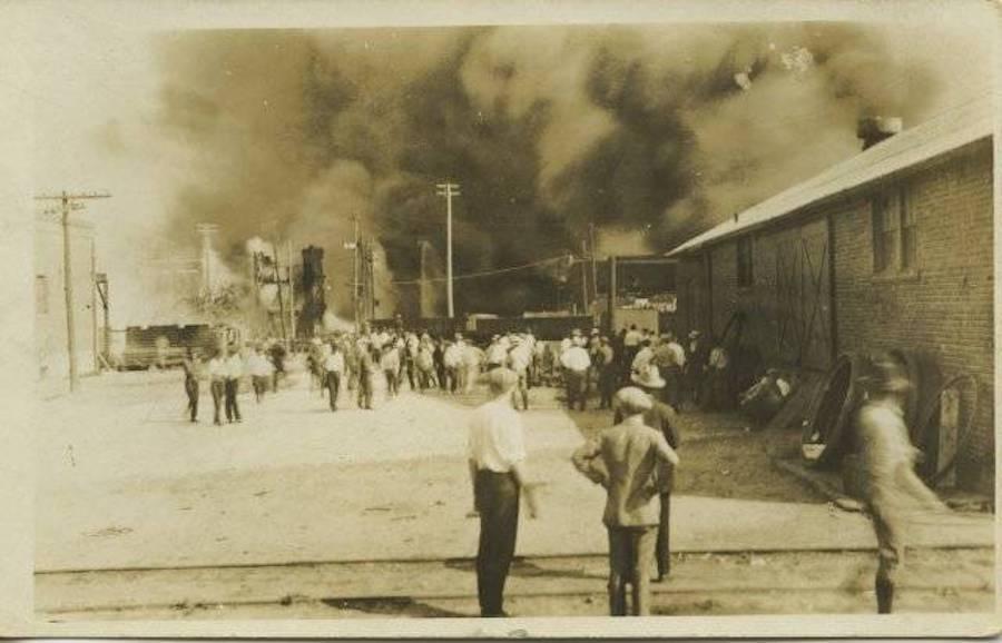 Men Watching Tulsa Burn