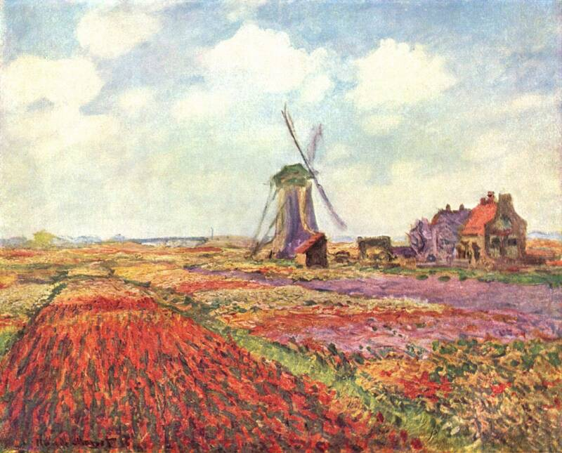 Monet's Painting Of The Tulip Fields