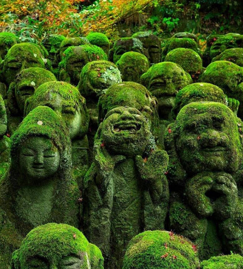 Mossy Faced Statues