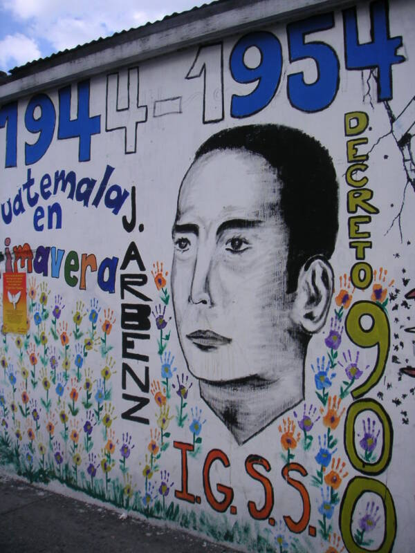 Mural In Guatemala Celebrating President Arbenz