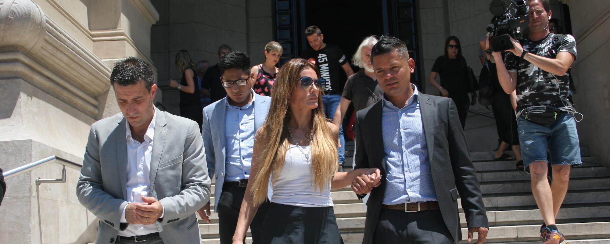 Natacha Jaitt Leaving The Courthouse