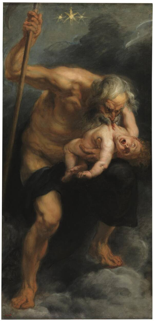 Painting Of Saturn Devouring His Son