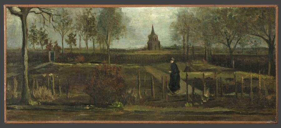 Parsonage Garden In Spring By Van Gogh