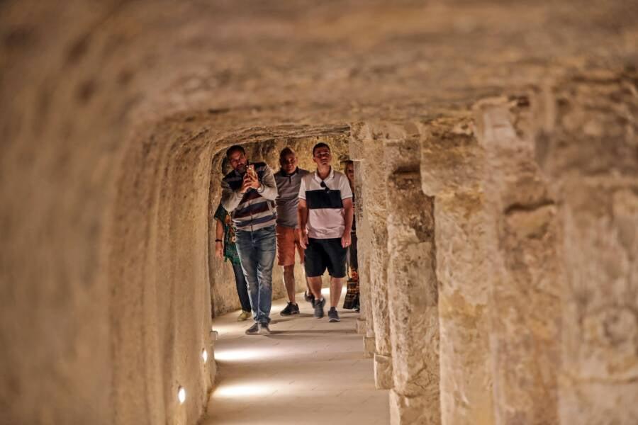 Path Inside Pyramid