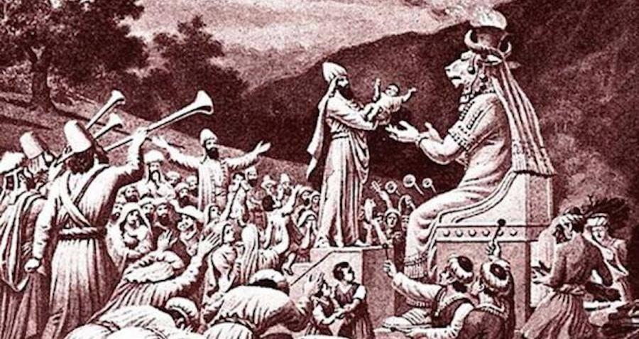 The History Of Moloch, The Pagan God Of Child Sacrifice