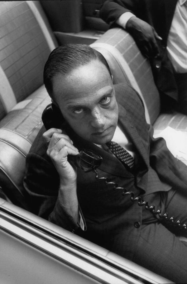Roy Cohn On A Car Phone