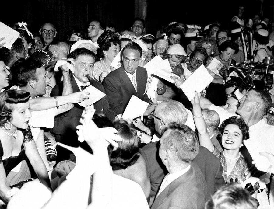 Roy Cohn With Fans