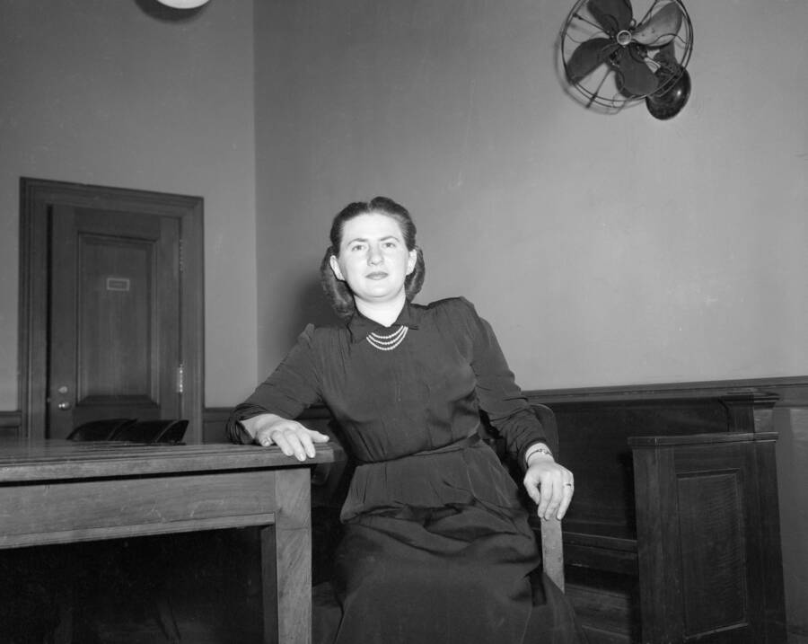 Ruth Greenglass In The Courthouse
