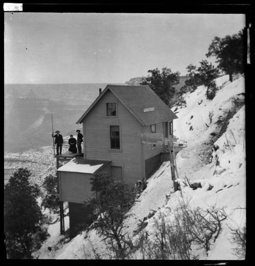 The Kolb Studio Perched Over The Canyon